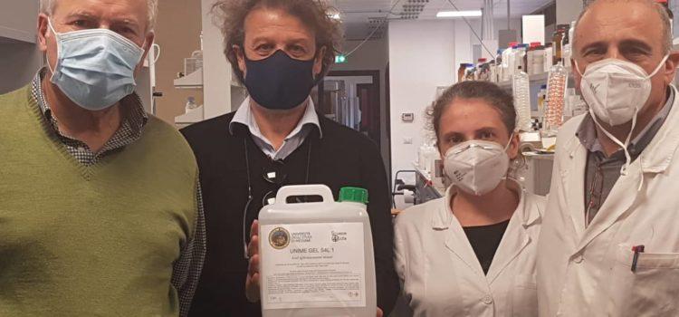 Coronavirus: Università dona primi 15 kg gel igienizzante a Messinaservizi Bene Comune. In tutto saranno donati 1000 kg