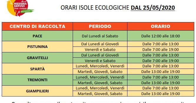 Cambiano orari e giorni conferimento isole ecologiche
